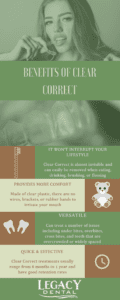 Clear Correct Benefits infographic